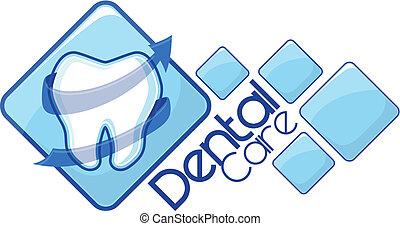 dentiste, vecteur, logotype