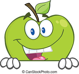 derrière, vide, pomme, dissimulation, signe