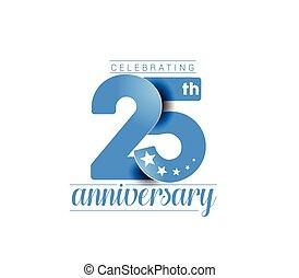 design., anniversaire, 25e, années, célébration