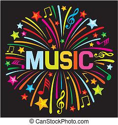 design), feud'artifice, musique, (music