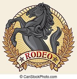 design), (rodeo, rodéo, étiquette