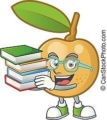dessert, longan, frais, delicious., étudiant, dessin animé, livre