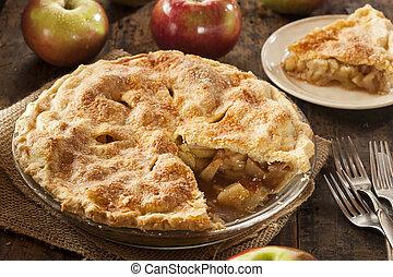 dessert, organique, pomme, fait maison, tarte