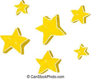 dessin animé, étoiles