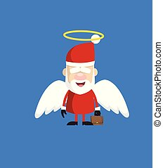 dessin animé, ange, simple, -, santa costume