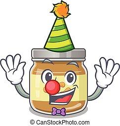 dessin animé, arachide, conception, beurre, rigolote, caractère, clown, mascotte