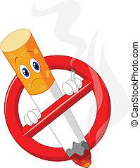 dessin animé, aucun symbole tabagisme