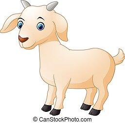 dessin animé, chèvre, mignon