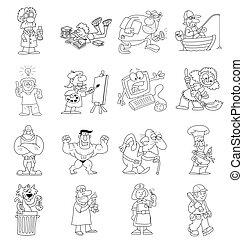 dessin animé, collection