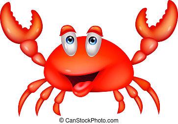 dessin animé, crabe, mignon
