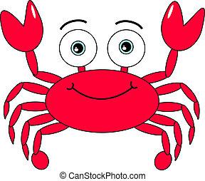 dessin animé, crabe