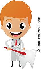 dessin animé, dentiste
