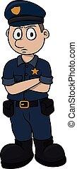 dessin animé, illustration, vecteur, police