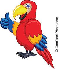 dessin animé, perroquet