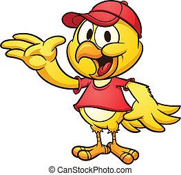 dessin animé, poulet