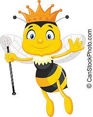 dessin animé, reine abeilles