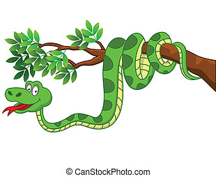 dessin animé, serpent