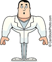 dessin animé, surpris, docteur