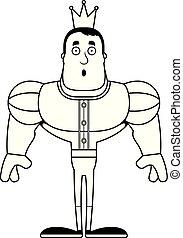 dessin animé, surpris, prince