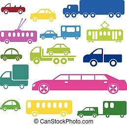 dessin animé, transport