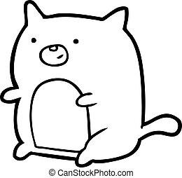 dessin ligne, chat