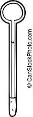 dessin ligne, thermomètre