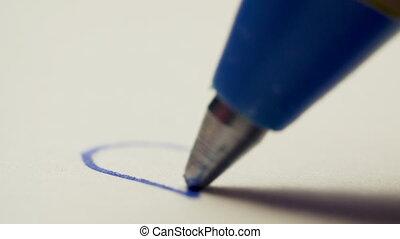 dessine, macro, blanc, coup, coeur, stylo, papier, fond
