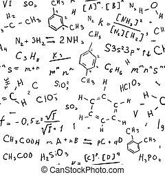 dessiner, chimie, fond, main