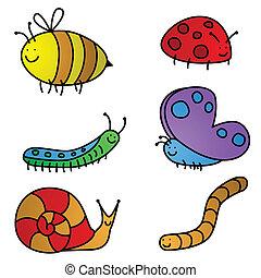 dessins animés, insecte