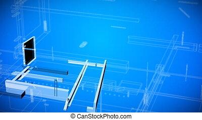 dessins architecturaux, plan