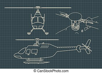 dessins, hélicoptère