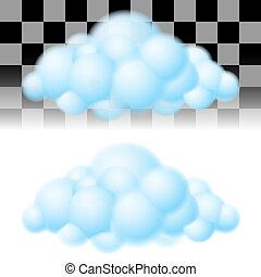 deux, clouds.