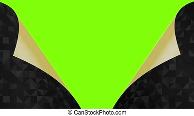 deux, dehors, vert, tourné, fond, pages, noir, intérieur