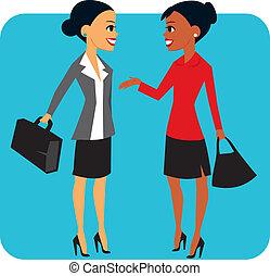 deux, femmes affaires