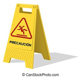 deux, signe jaune, precaucion, prudence, panneau
