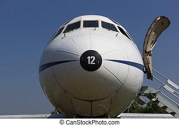 devant, civil, avion
