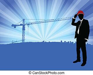 devant, construction, architecte