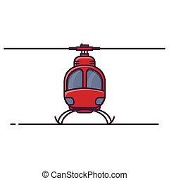 devant, petit, vue, hélicoptère