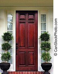 devant, topiary, porte