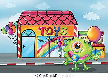 devanture, jouet, monstre