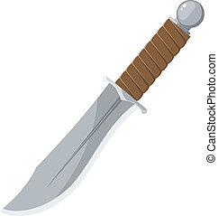 dièse, vecteur, couteau, illustration