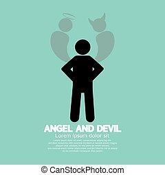diable, symbole., ange