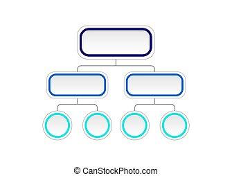 diagram., vecteur, organigramme