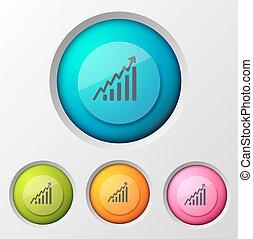 diagramme, business, fond, icône