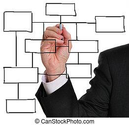 diagramme, business, vide