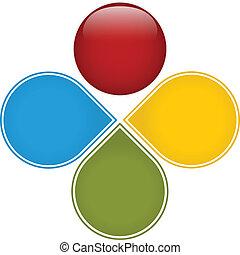 diagramme, coloré, business, lustré