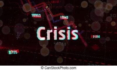diagramme, crise, récession