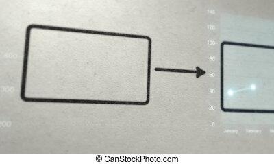 diagramme, diagramme, business, dessin