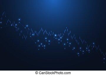diagramme, forex, arrière-plan., marché financier, stockage, graph., ou, illustration, finance, résumé, commerce, vecteur
