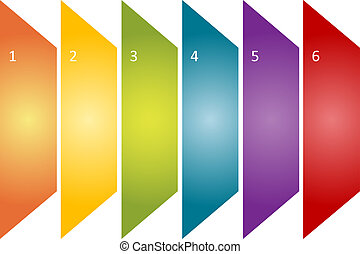 diagramme, gestion, business, vide